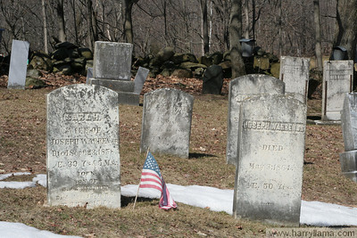 Another view of the East Fairfield cemetery.