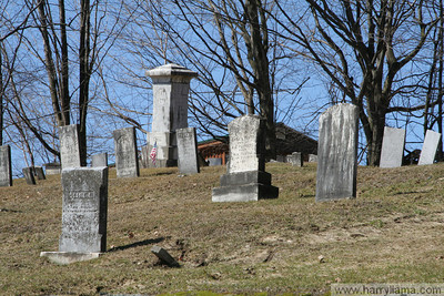 An old, small cemetery in East Fairfield, on Lapland Road.