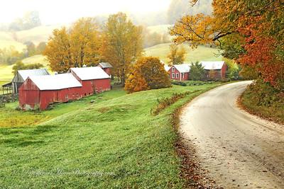 The famous Jenne Farm outside Woodstock Vermont.