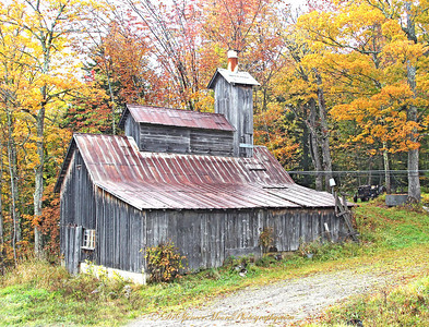 This is an old Sugar House that has used to make the famous Maple Syrup for over 80 years, and it's still in service as we understand. I'll bet it's seen some rough winters in its' life time.