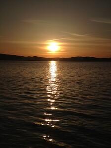 Golden Sunset at Lake Champlain tonight.