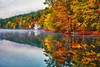 Vermont, Manchester, Lake St Catherine State Park, Foliage, Fall Colors, HDR, Landscape, 佛蒙特, 秋色 风景
