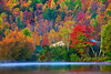 Vermont, Stowe, Lake Elmore, Foliage, Fall Colors, Landscape, Dawn, 佛蒙特, 秋色 风景