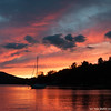 Autumn sunset over Lake Champlain