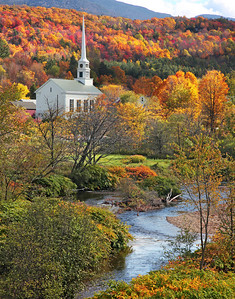 Famous Church in the fall at Stowe Vermont