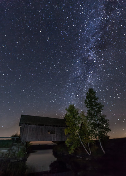 Milky Way over A.Foster Barn In Cabot VT