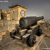 One of the original cannons dotted around the fort.