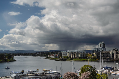 Storm approaching Victoria Harbour