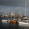 Dark sky over Victoria Harbour