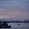 Pink Stratocumulus clouds over Victoria Harbour