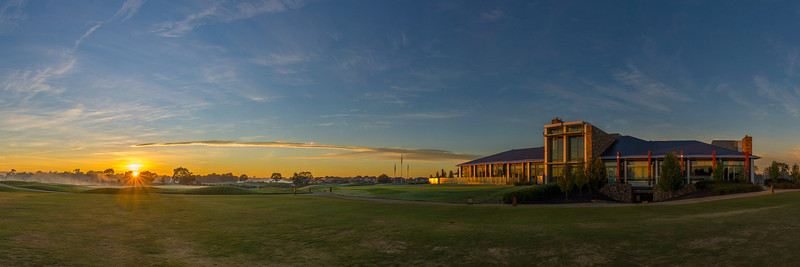 Sunrise at Sandhurst Clubhouse