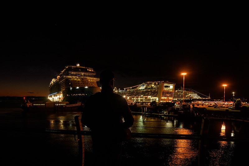 Norwegian Bliss, Star Princess and the Oosterdam.