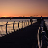 Sunset at the breakwater.