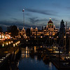 Victoria Harbour and Legislature lit up for Christmas