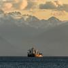 Heading nto the open seas through the Strait of Juan de Fuca.