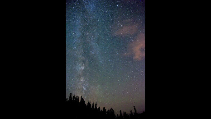 Time laps of the Milky Way from Chinook Pass Wa. 2012