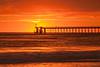 Blazing sunset Goleta Pier