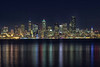 Seattle night skyline from Alki Point
