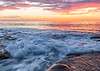 Sunset and incoming tide