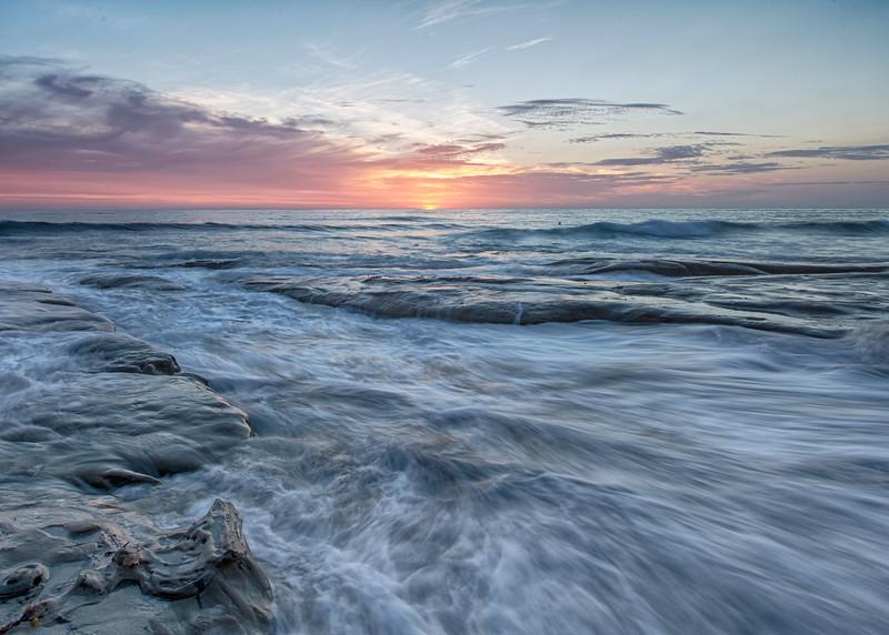Waves across the rocks