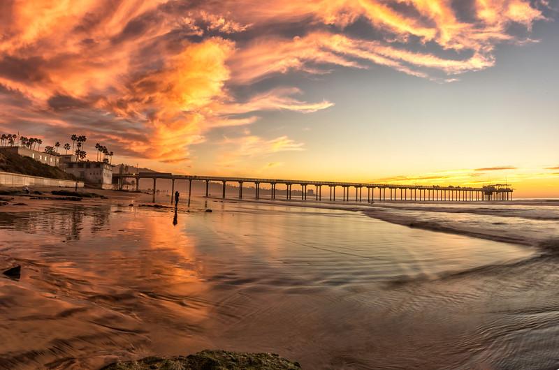 Scripps Pier just after sunset