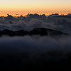 Views from Haleakala, Maui, Hawaii : Maui Haleakala Crater Lihue Sunrise Sunset clouds dusk