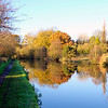 The Grand Union Canal in Autumn, near Bourne End, Hertfordshire.
