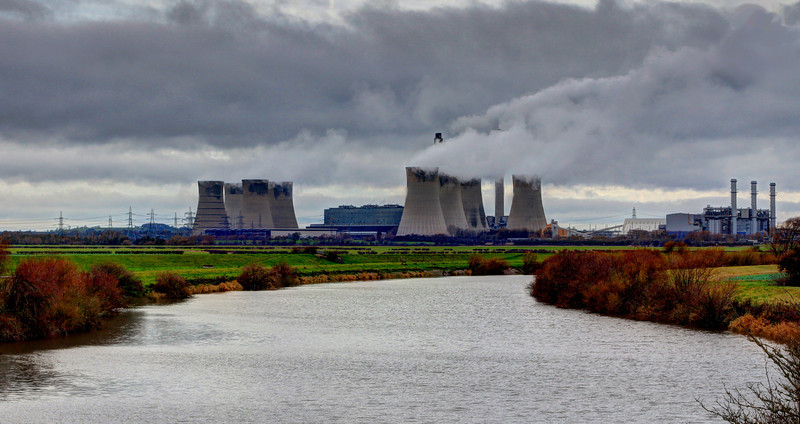 West Burton Power Station and the River Trent.