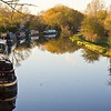 Narrowboats on the Grand Union Canal at Bourne End, Hertfordshire.