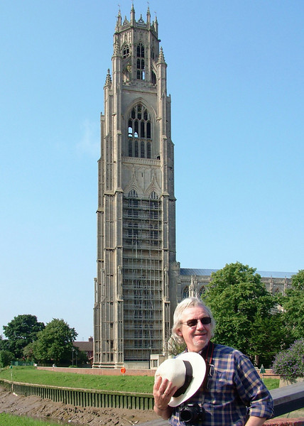 """This is me, taken by my friend Ian, standing in front of """"The Stump"""" at Boston, Lincolnshire."""