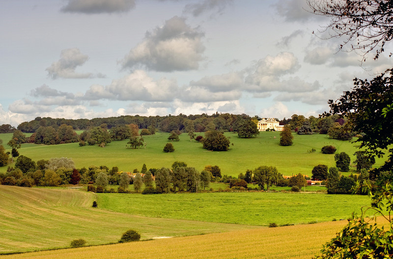 Gaddesden Place across the Gade Valley