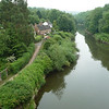 The River Severn from the bridge at Ironbridge in Shropshire.