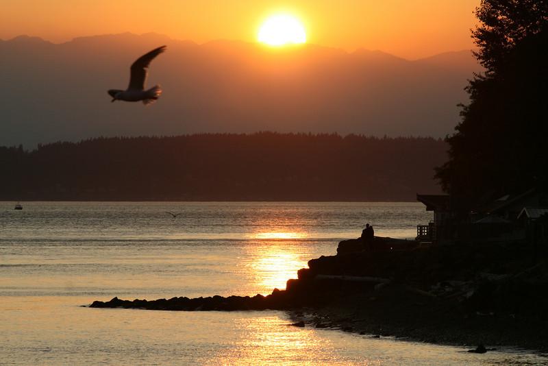 Sunset, Seattle Washington, summer