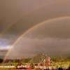 Double rainbow after passing storm