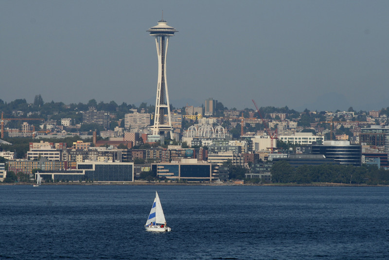 Seattle Space needle, and bay