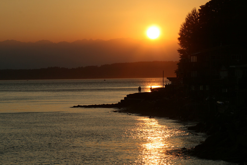 Northwest Seattle, Washington sunset