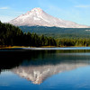 Mt Hood reflection in a still Trillium Lake<br /> Just before sunset, mid october