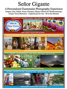 8 Days  & 9 Nights,  Personalized Guatemala travel packages with your very own photographer and private chef