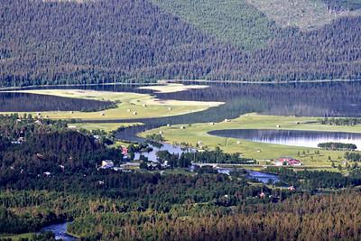 Ammarnäs village and delta.