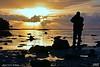 Fotograf i solnedgang