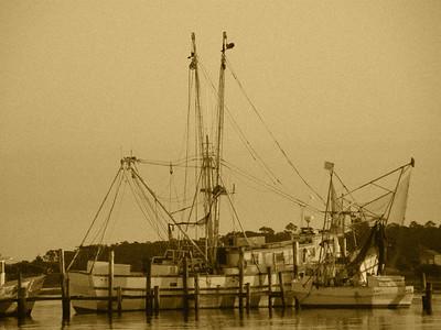 Swansboro Boat Sepia