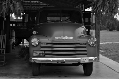 Chevy Truck B&W