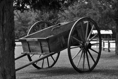 Old Wagon B&W
