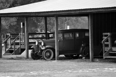 Old Car B&W