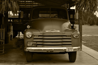 Chevy Truck Sepia