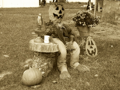 Scare Crow on Break Sepia