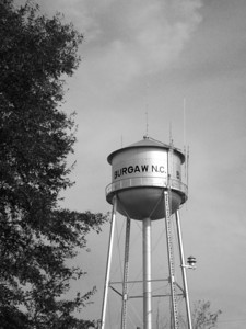 Burgaw Water Tower B&W