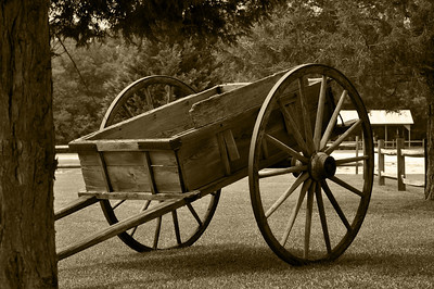 Old Wagon Sepia