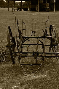 Farm Equipment Sepia