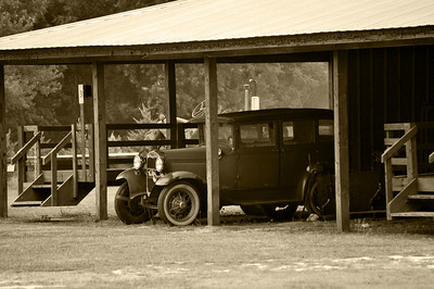 Old Car Sepia